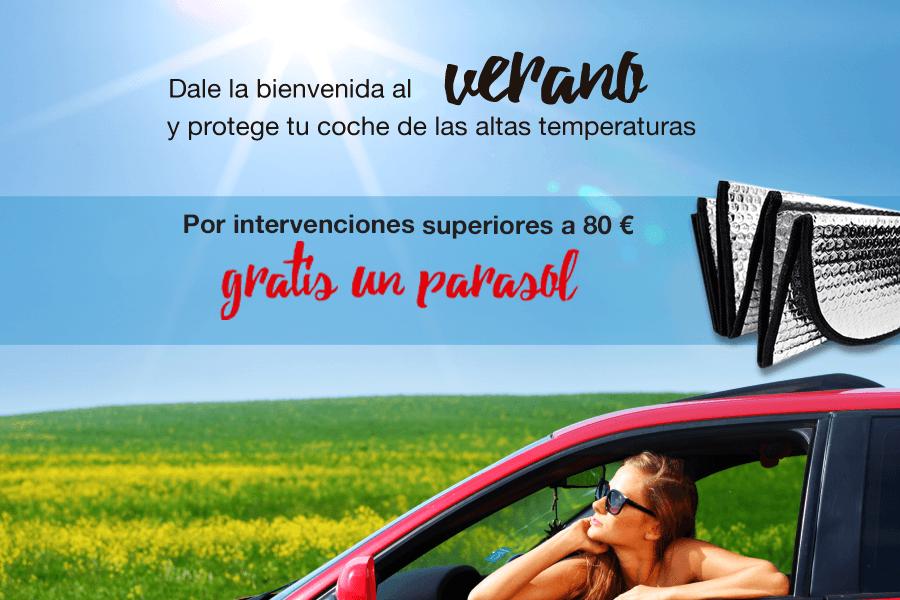Llévate un parasol gratis y protege tu coche del sol. *PROMOCIÓN FINALIZADA