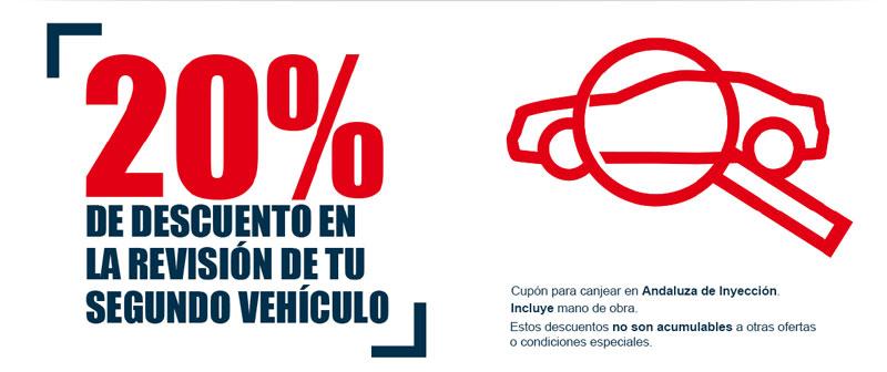 20% de descuento en la revision de tu segundo vehículo.