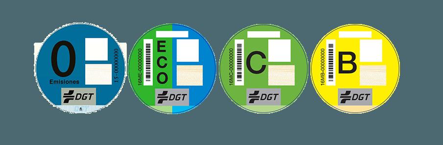 El dispositivo o etiqueta ambiental de la DGT
