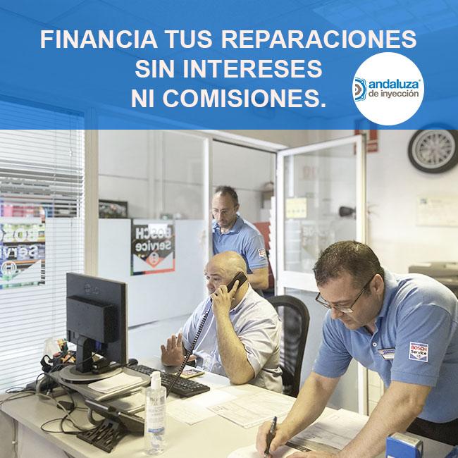 Financia tus reparaciones sin intereses ni comisiones.